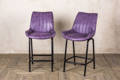 short purple bar stools