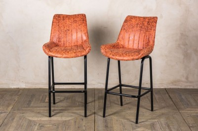 tall orange bar stools