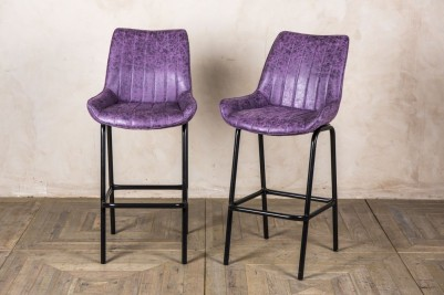 tall purple stools