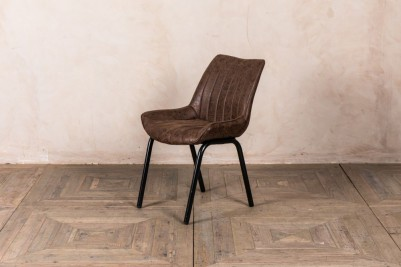 brown ribbed dining chairs