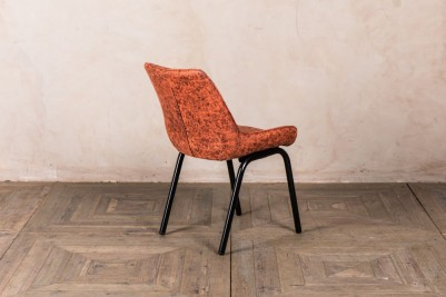 orange faux suede dining chairs