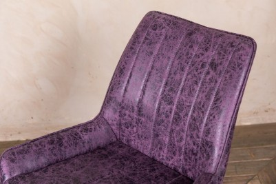 purple faux suede dining chairs