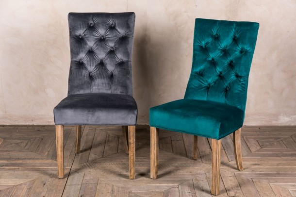 Brittany French Style Velvet Chair Range
