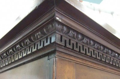 George II Mahogany linen press