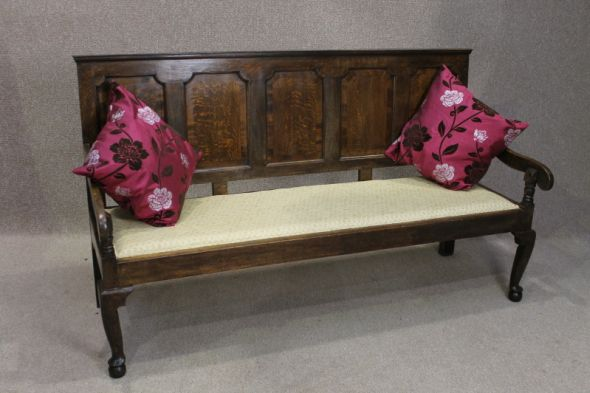 GEORGE III OAK SETTLE/PEW/BENCH