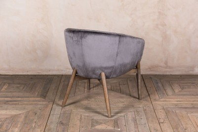 grey bucket chair