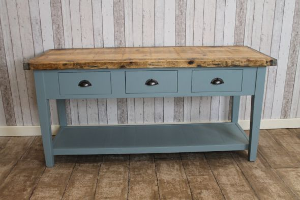 Handmade Industrial Sideboard with Bleached Top