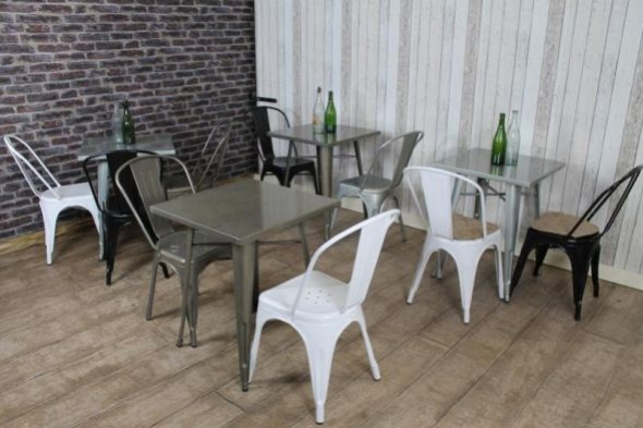 Disc - Tolix table galvanised 60x60cm (1 pcs)