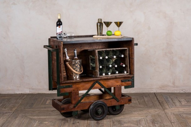 Industrial Drinks Trolley / Hall Seat