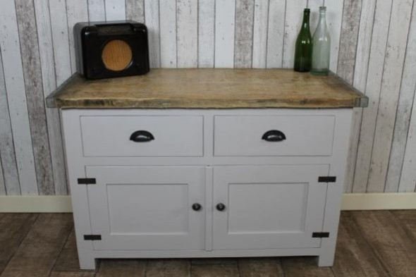 Handmade Industrial Style Sideboard with Cupboards