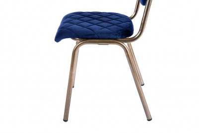 blue brass leg chair