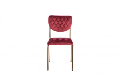 garnet red chair