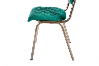 green brass leg chair