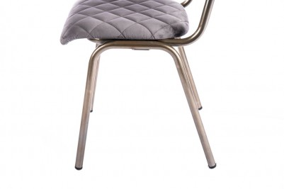 grey brass leg chair