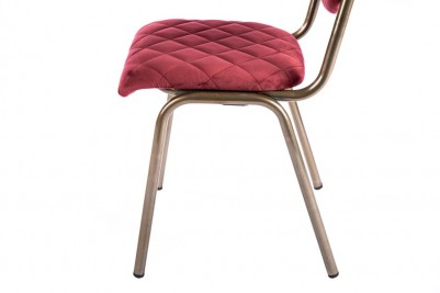 red brass leg chair