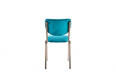 velvet aquamarine restaurant chair