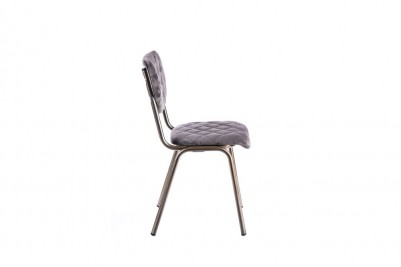 velvet dining chair in grey