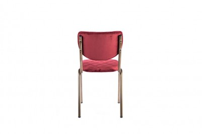 velvet garnet red restaurant chair