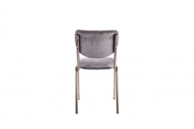 velvet grey restaurant chair