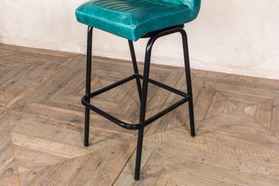 distressed leather stools