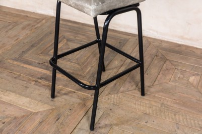 grey distressed leather stools