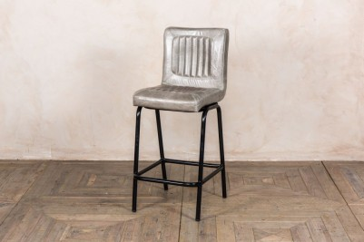 grey leather stool