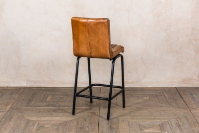 real letaher bar stools with backs