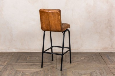 tan distressed leather stools