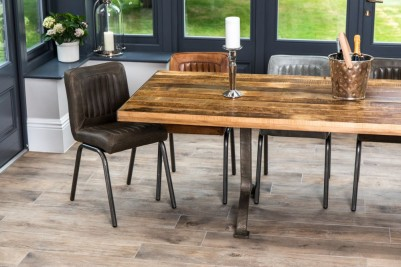 Jenson Distressed Leather Dining Chairs