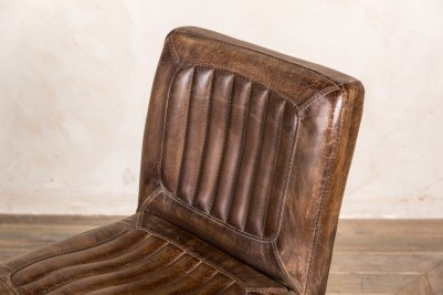antique brown leather chairs