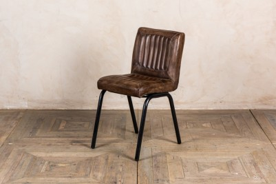 antique brown leather dining chairs