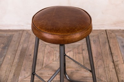 unique leather top stool