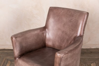 clay leather chair