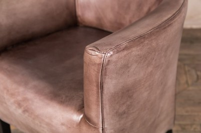 compact leather armchair