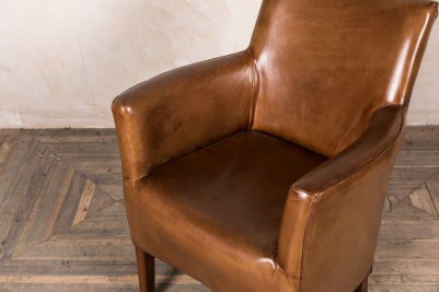 retro style leather armchairs