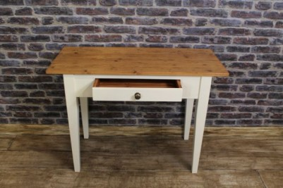 reclaimed pine side table rustic