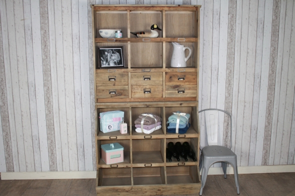 Reclaimed Pine Storage Unit