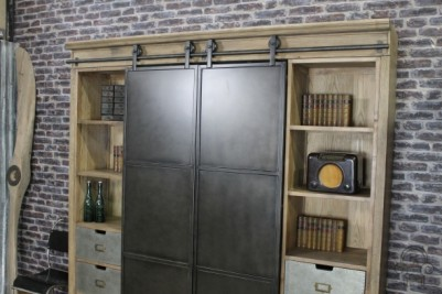 metal haberdashery with roller sliding doors