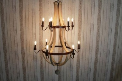 large industrial style chandeliers