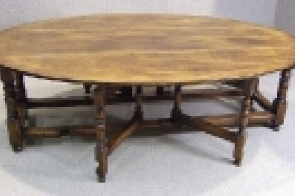 Large Solid Oak Oval Dining Table