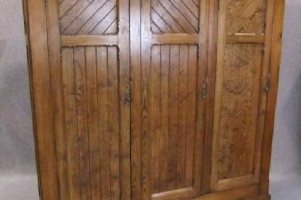 Victorian Pine Cupboard ,large Hall Robe