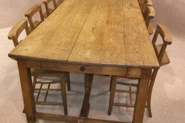 Victorian French Farmhouse Pine Table