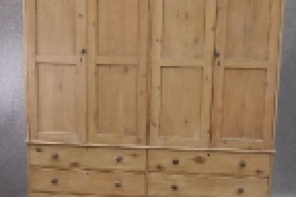 Large Victorian Pine Housekeepers Cupboard