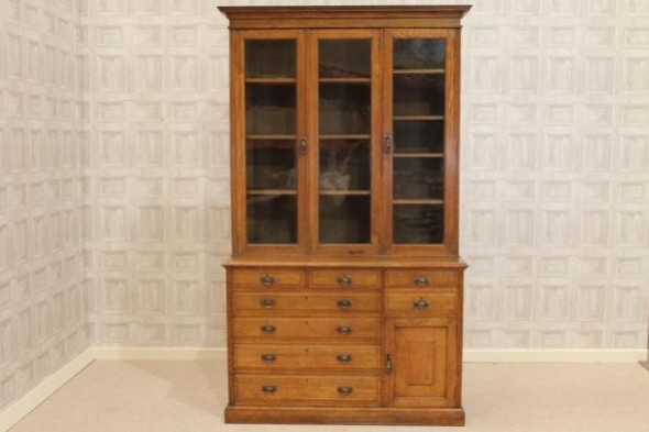 LATE VICTORIAN OFFICE BOOKCASE