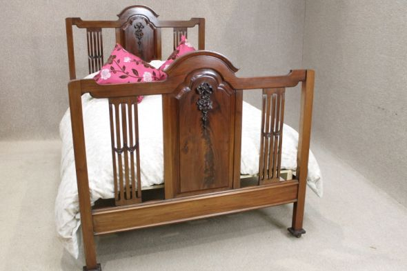 Late Victorian Mahogany Double Bed