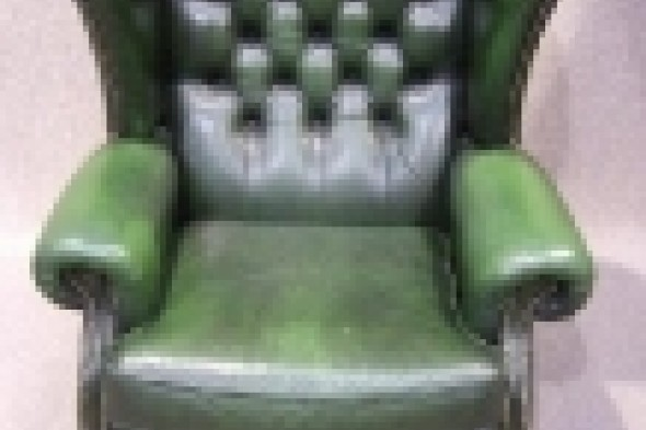Leather Chesterfield Winged Armchair