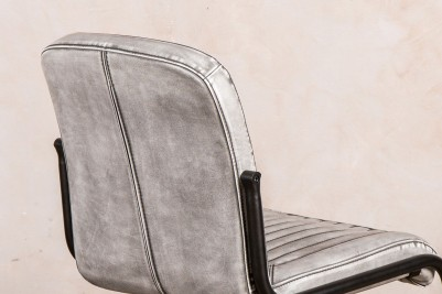 stitched leather look chairs