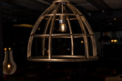 metal pendant cage light