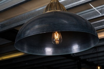 large blue pendant light
