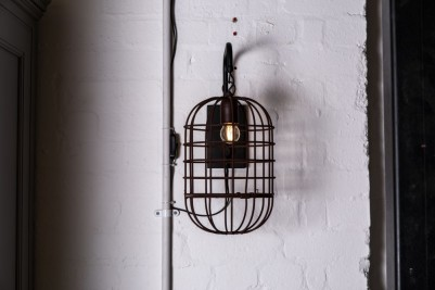 rust effect cage light